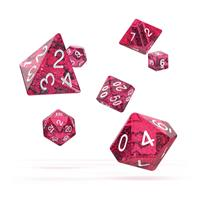 Oakie Doakie Dice RPG Set Speckled - Pink (7)