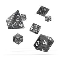 Oakie Doakie Dice RPG Set Speckled - Black (7)