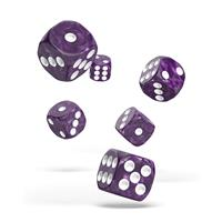 Oakie Doakie Dice D6 Dice 16 mm Marble - Purple (12)