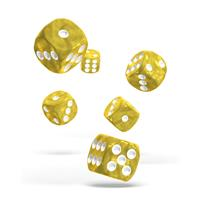 Oakie Doakie Dice D6 Dice 16 mm Marble - Yellow (12)