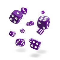Oakie Doakie Dice D6 Dice 12 mm Solid - Purple (36)