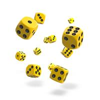 Oakie Doakie Dice D6 Dice 12 mm Solid - Yellow (36)