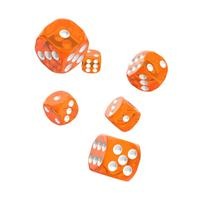 Oakie Doakie Dice D6 Dice 16 mm Translucent - Orange (12)
