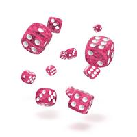Oakie Doakie Dice D6 Dice 12 mm Speckled - Pink (36)