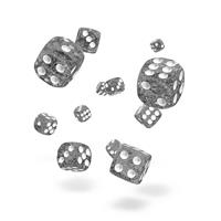 Oakie Doakie Dice D6 Dice 12 mm Speckled - Black (36)