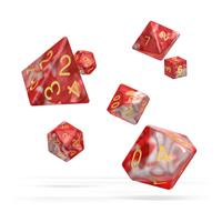 Oakie Doakie Dice RPG Set Gemidice - Red Sky (7)