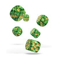 Oakie Doakie Dice D6 Dice 16 mm Gemidice - Jungle (12)