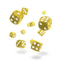 Oakie Doakie Dice D6 Dice 12 mm Marble - Yellow (36)