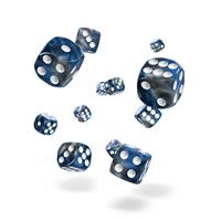Oakie Doakie Dice D6 Dice 12 mm Gemidice - Liquid Steel (36)