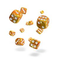 Oakie Doakie Dice D6 Dice 12 mm Gemidice - Sunstone (36)