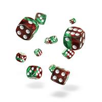Oakie Doakie Dice D6 Dice 12 mm Gemidice - Bloody Jungle (36)