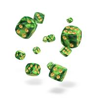 Oakie Doakie Dice D6 Dice 12 mm Gemidice - Jungle (36)