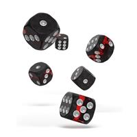 Oakie Doakie Dice D6 Dice 16 mm Enclave - Ruby (12)