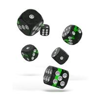 Oakie Doakie Dice D6 Dice 16 mm Enclave - Emerald (12)