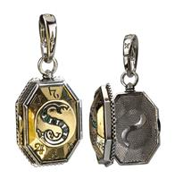 Noble Collection Harry Potter Bracelet Charm Lumos Slytherin's Locket