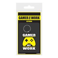 Pyramid International Gamer At Work Rubber Keychain Joypad 6 cm
