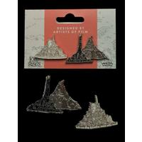 Weta Lord of the Rings Collectors Pins 2-Pack Minas Tirith & Mt. Doom