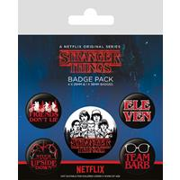 Pyramid International Stranger Things Pin Badges 5-Pack Characters