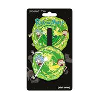 Rick and Morty Rubber Luggage Tag Portal