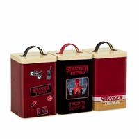 Funko Stranger Things Kitchen Storage Set Retro Logo