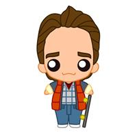 SD Toys Back to the Future Pokis Rubber Minifigure Marty McFly 6 cm