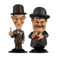 BIG Chief Studios Laurel and Hardy Mini Bobble-Head 2-Pack Suits 8 cm