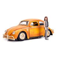 Jada Toys Transformers Bumblebee Diecast Model 1/24 Volkswagen Beetle with Figure