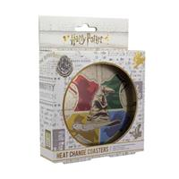 Paladone Products Harry Potter Heat Change Coaster 4-Pack Sorting Hat