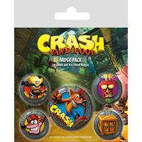 Pyramid International Crash Bandicoot Pin Badges 5-Pack Pop Out