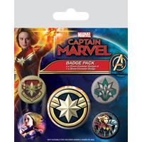 Pyramid International Captain Marvel Pin Badges 5-Pack Patches