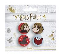 Carat Shop, The Harry Potter Cutie Button Badge 4-Pack Ron & Draco & Harry Broom