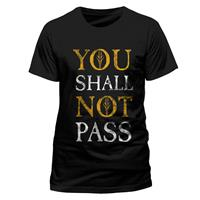 CID Lord of the Rings T-Shirt You Shall Not Pass Text Size XL