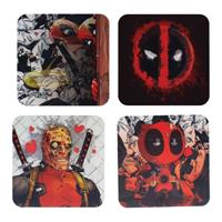 Paladone Products Deadpool Lenticular Coaster 4-Pack