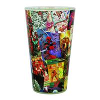 Paladone Products Deadpool Pint Glass Scenes