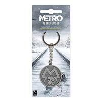 Gaya Entertainment Metro Exodus Metal Keychain Spartan Logo