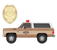 Jada Toys Stranger Things Diecast Model 1/24 Chief Hopper's 1980 Chevy K5 Blazer with Badge