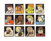 DTR Street Fighter 12-Pack Pin Badges Characters