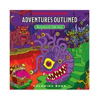 Wizards of the Coast Dungeons & Dragons Adventures Outlined Coloring Book