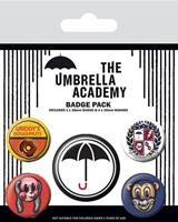 Pyramid International The Umbrella Academy Pin Badges 5-Pack Super