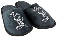 United Labels Looney Tunes Slippers Tweety Black Heart Size M
