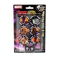 Wizkids Marvel HeroClix: Avengers Black Panther and the Illuminati Dice and Token Pack