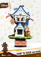 Beast Kingdom Toys Disney Summer Series D-Stage PVC Diorama Chipn Dale Tree House 16 cm