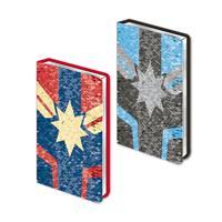 Cerdá Captain Marvel Sequin Premium Notebook A5 Logo