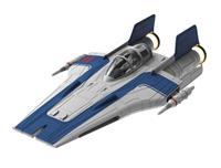 Revell Star Wars Build & Play Model Kit with Sound & Light Up 1/44 Resistance A-Wing Fighter Blue