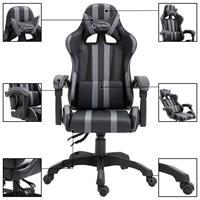 Gamingstoel PU grijs