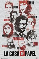 GPE Money Heist Poster Characters 61 x 91,5 cm