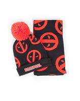 Difuzed Marvel Beanie & Scarf Set Deadpool