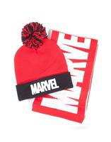 Difuzed Marvel Beanie & Scarf Set Logo