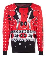 Difuzed Marvel Knitted Christmas Sweater Deadpool Upside Down Size M