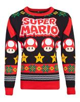 Difuzed Nintendo Knitted Christmas Sweater Super Mario Size L